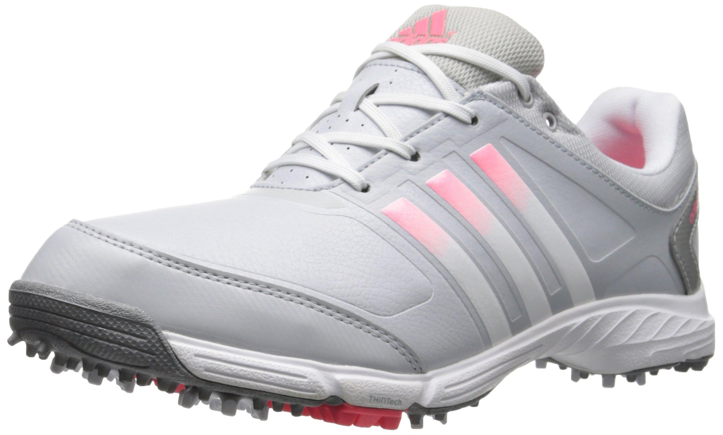 adidas Women's W Adipower TR Golf Shoe, Clear Grey/Running White/Flash Red, 9 M US