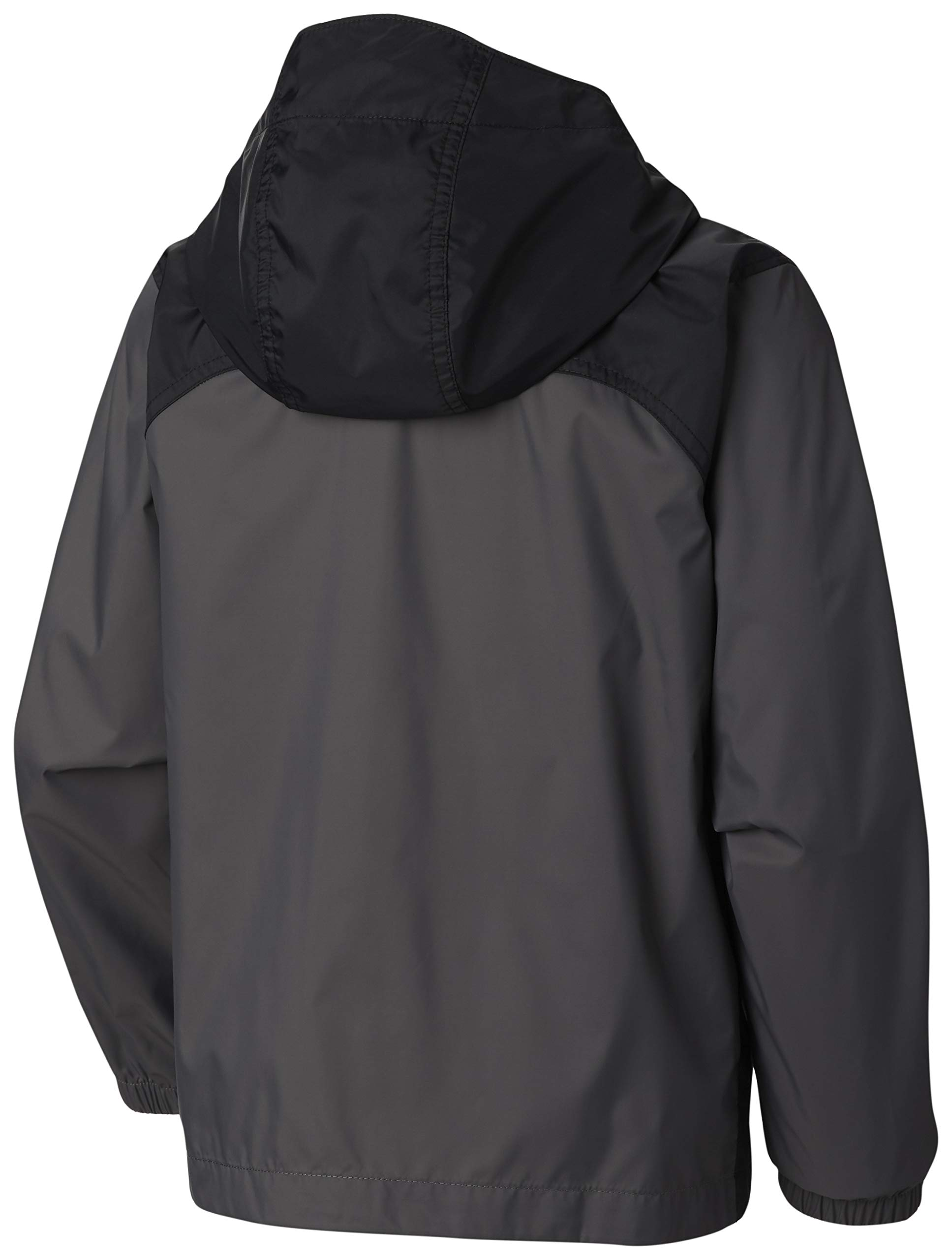 Columbia Boys' Little Glennaker Rain Jacket, Grill/Black X-Small by Columbia (Image #2)