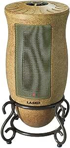Lasko 6405 - Calentador oscilante de diseño, color dorado