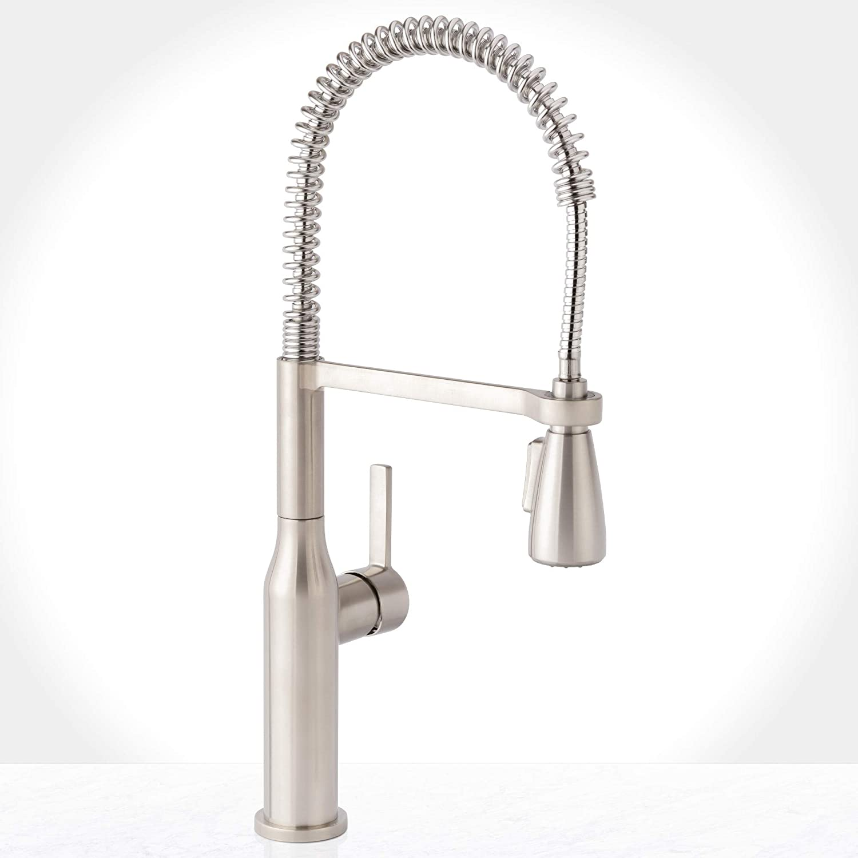 Miseno MNO500DSS Miseno MK500 Galleria Pre-Rinse Kitchen Faucet with Multi-Flow Spray Head - Includes Optional Deck Plate