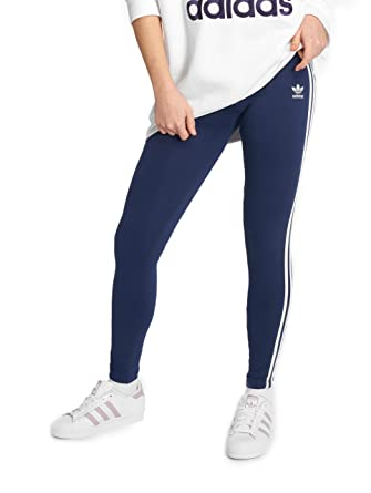 adidas Originals Damen Leggings 3 Stripe blau 36