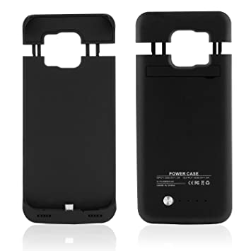 SAVFY - Funda Batería Samsung Galaxy S6 , Externa Recargable Batería Cargador Case Cascara 4200 mAh para Samsung Galaxy S6 (Negro)