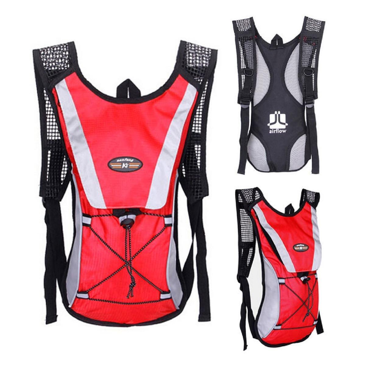 Lookatool Water Bladder Bag Backpack Hydration Camelbak Pack Hiking Camping 2L (Black)