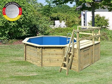 Paradies Pool GmbH Madera Pool 4,00 x 1,20 m/Incluye Sol
