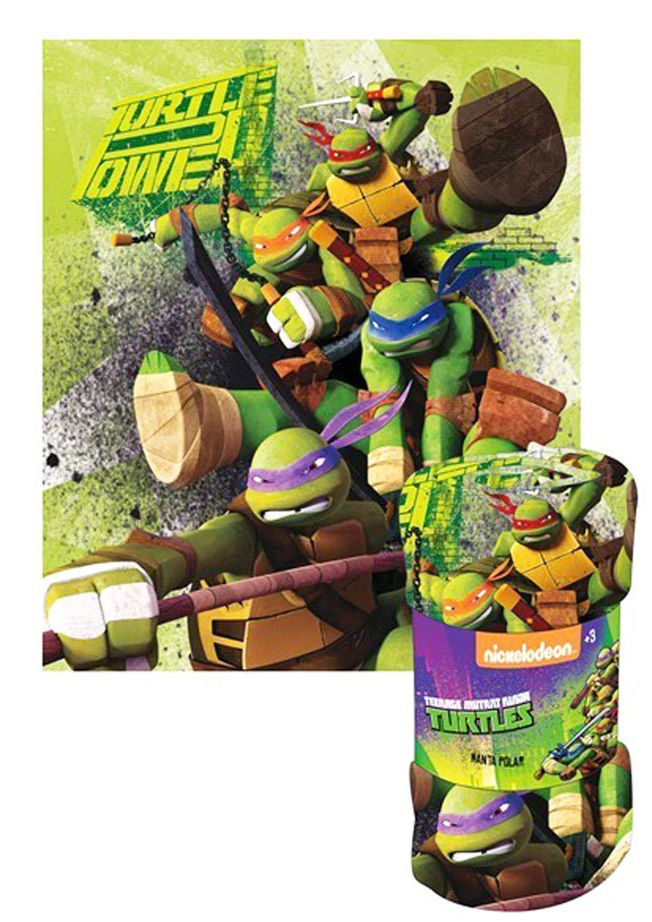 Manta - manta polar para niño Tortugas Ninja Verde 120 x 140 ...