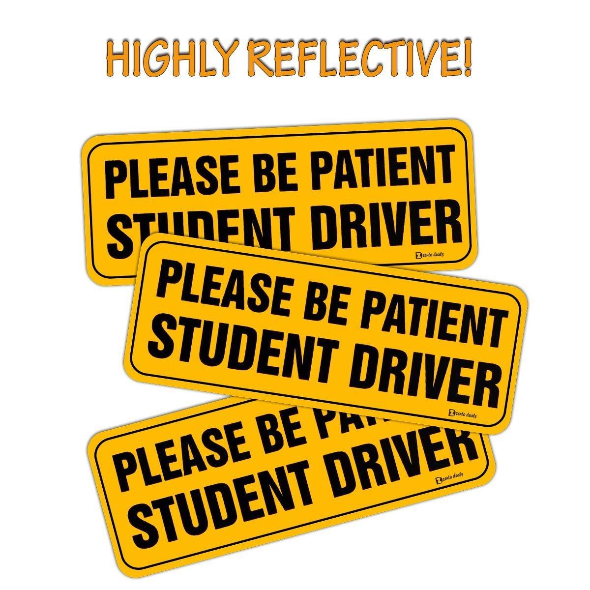 Zento Deals Please Be Patient Student Driver Magnetic Bumper Sign ST50