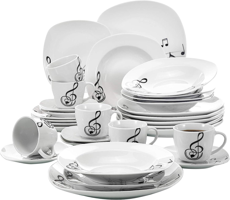 30 Piezas Vajillas de Porcelana Juegos