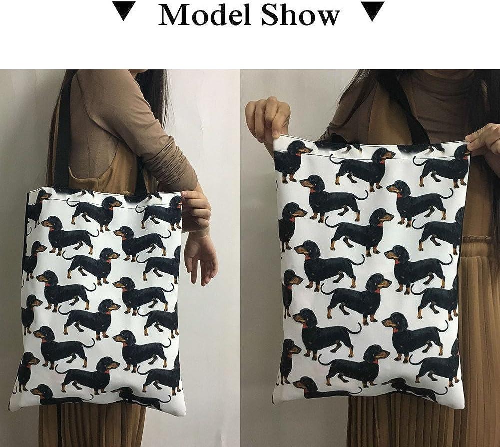 Upetstory Cotton and Cavas Tote Bag For Women Girls Travel Shopping School Shoulder Handbag