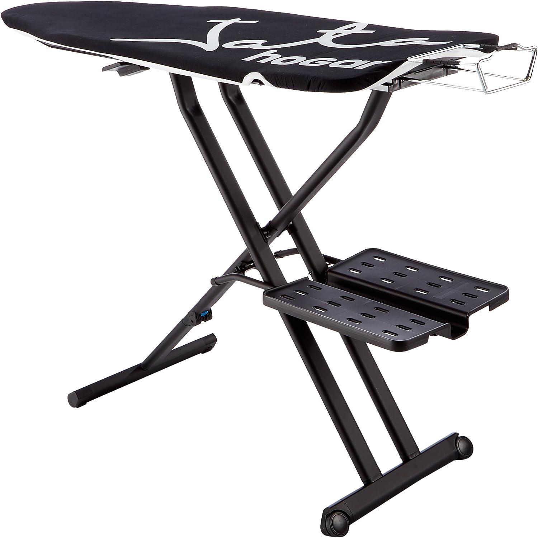 Jata Hogar TP600 Tabla de Planchar Ajustable en Altura y Plegable, Metal, Negro, 114x46x13