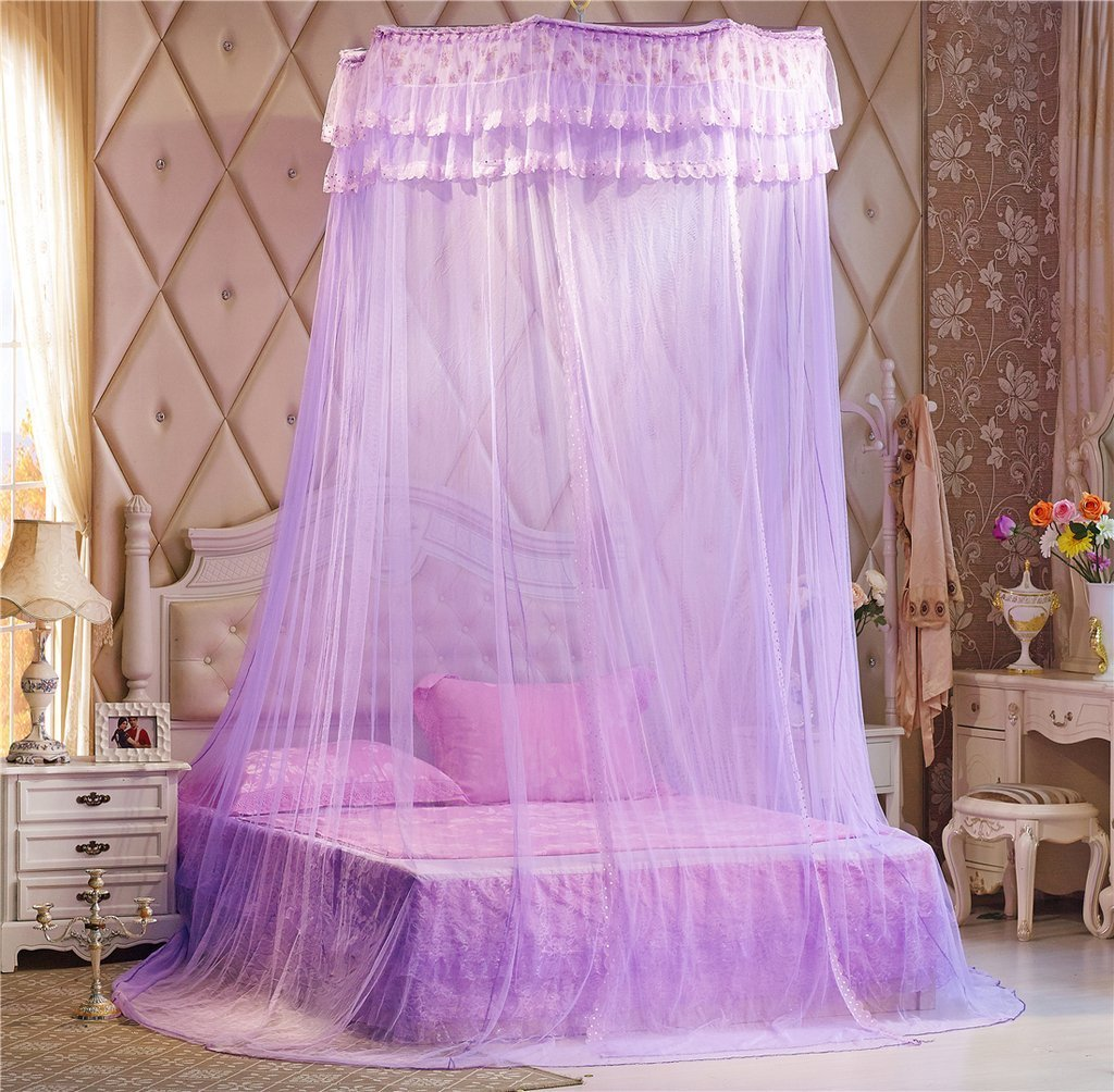 Largest Double Lace Bed Canopy Pink Mosquito Nets Keeps Insects Mosquitoes Flies Away Bedroom Decoration Dome Princess Room Tent Unimall 646769