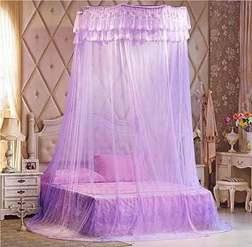 Fesselnd Unimall Kuppel Moskitonetz Mückenschutz Betthimmel Bett Vorhang Baldachin  Für Doppelbetten, Lila