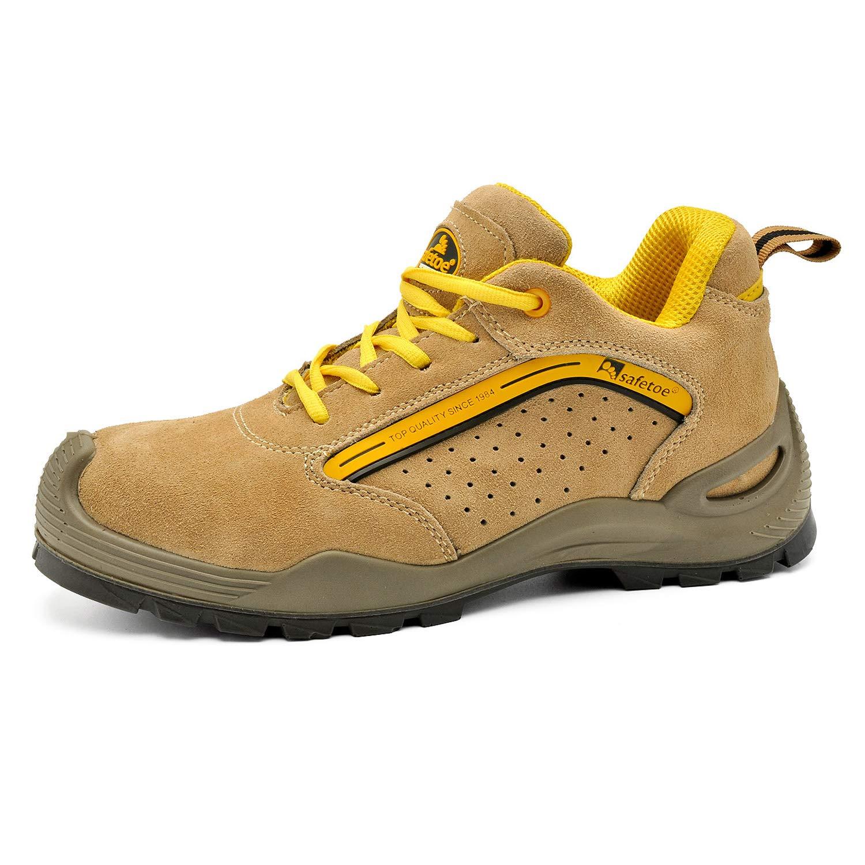 Zapatos de Seguridad Deportivos para Hombres - 7296Y Calzados de Seguridad Trabajo S1P con Puntera de