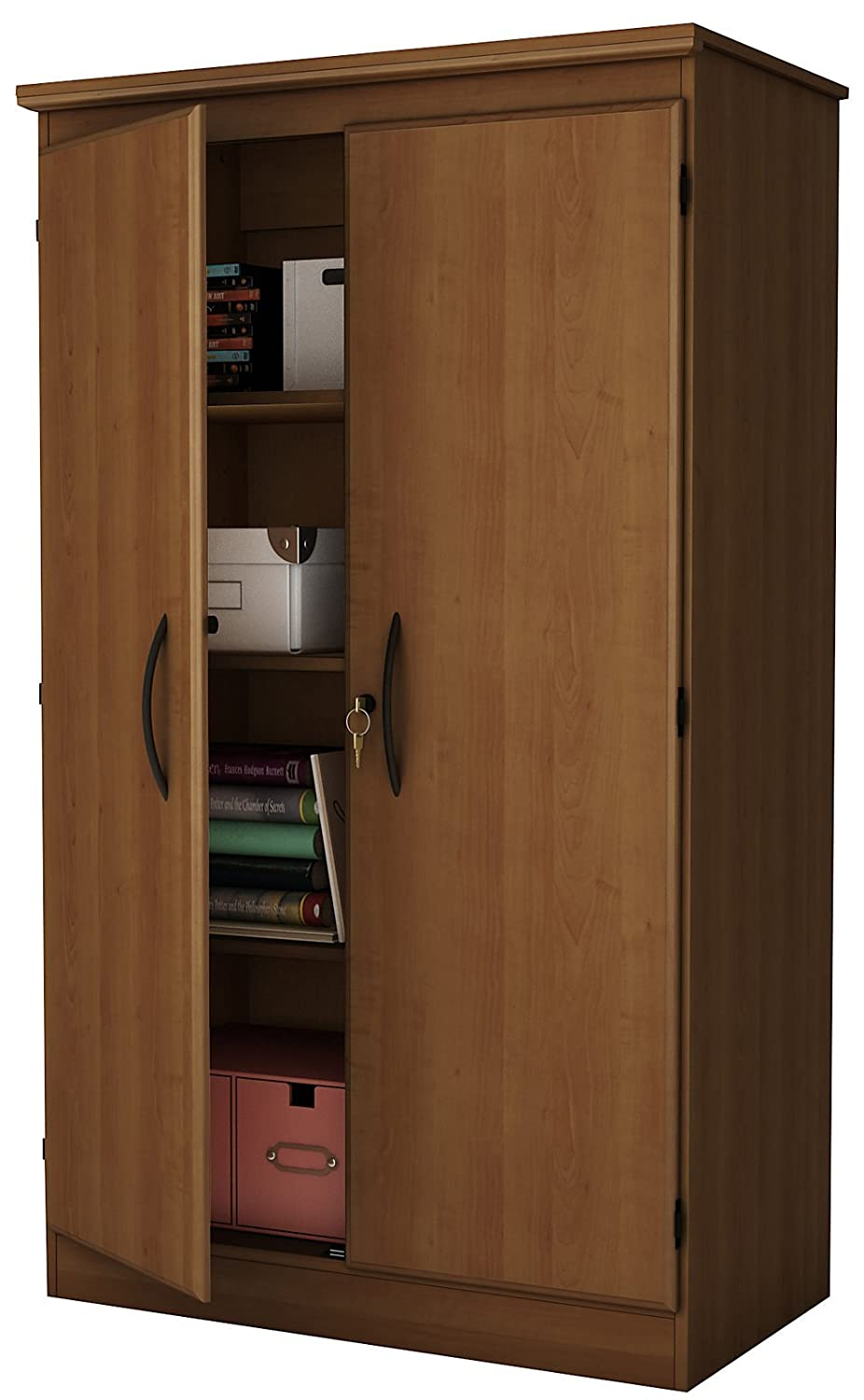 Stress less coloring by the shore - Amazon Com South Shore Morgan Collection Storage Cabinet Morgan Cherry Kitchen Dining
