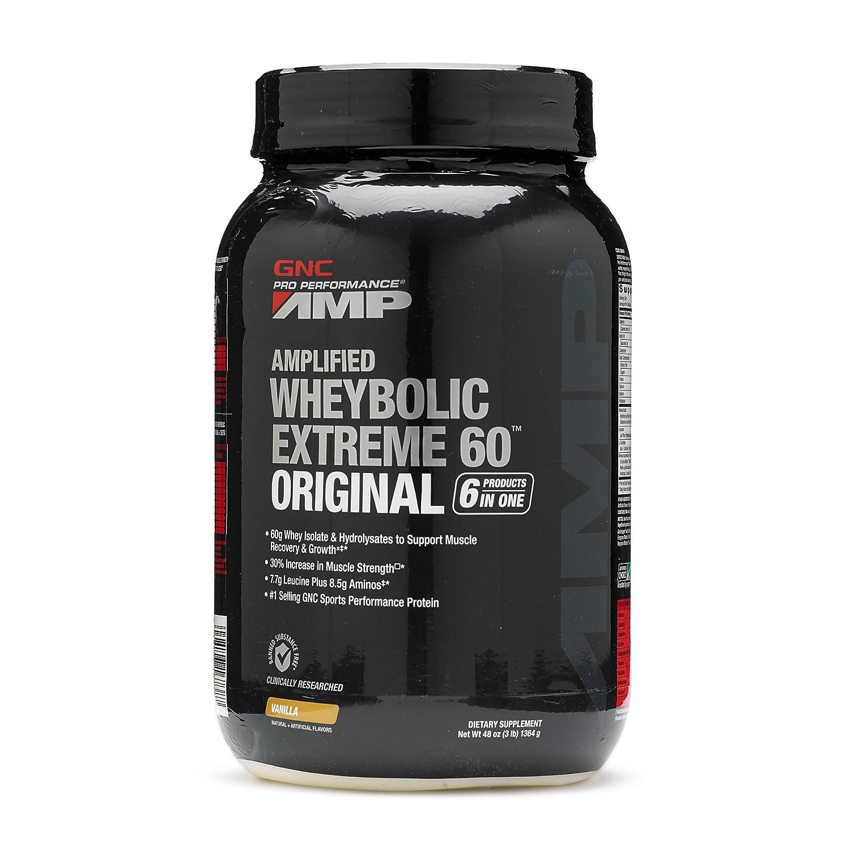 GNC Pro Performance AMP Wheybolic Extreme 60 Original Whey Protein Vanilla 3 lb