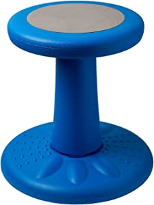 """Active Kids Chair by Studico – Wobble Chair Pre-School - Elementary School - Age Range 3-7y – Grades K-1-2 - 14"""" High – Flexible Seating Classroom - Helps ADD/ADHD - Corrects Posture - Blue"""