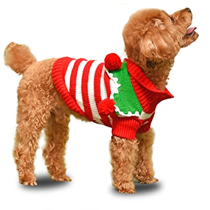 PAWZ Road Cute Pet Christmas Sweater Stripe Design Dog Clothes Puppy  Sweater Fashion Clothing for Dogs - Amazon.com : PAWZ Road Cute Pet Christmas Sweater Stripe Design Dog