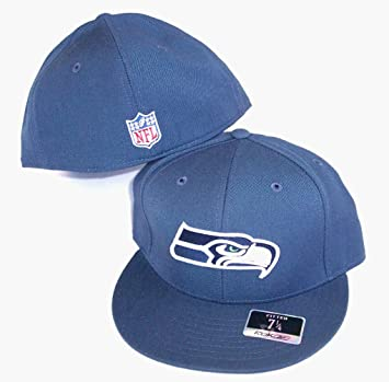brand new 31175 af813 1412c 89d30 coupon seattle seahawks nfl reebok fitted size 8 hat cap steel  blue 5ee0a 8cf93 ...