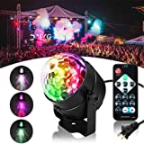 SOLMORE LED Disco Ball Party lights Ripple Light Sound Activated DJ Lights for Parties 7Colors Water Wave Ocean Projector Strobe Light for Home Stage Wedding Bar Karaoke Birthday Gift 3W (with Remote)