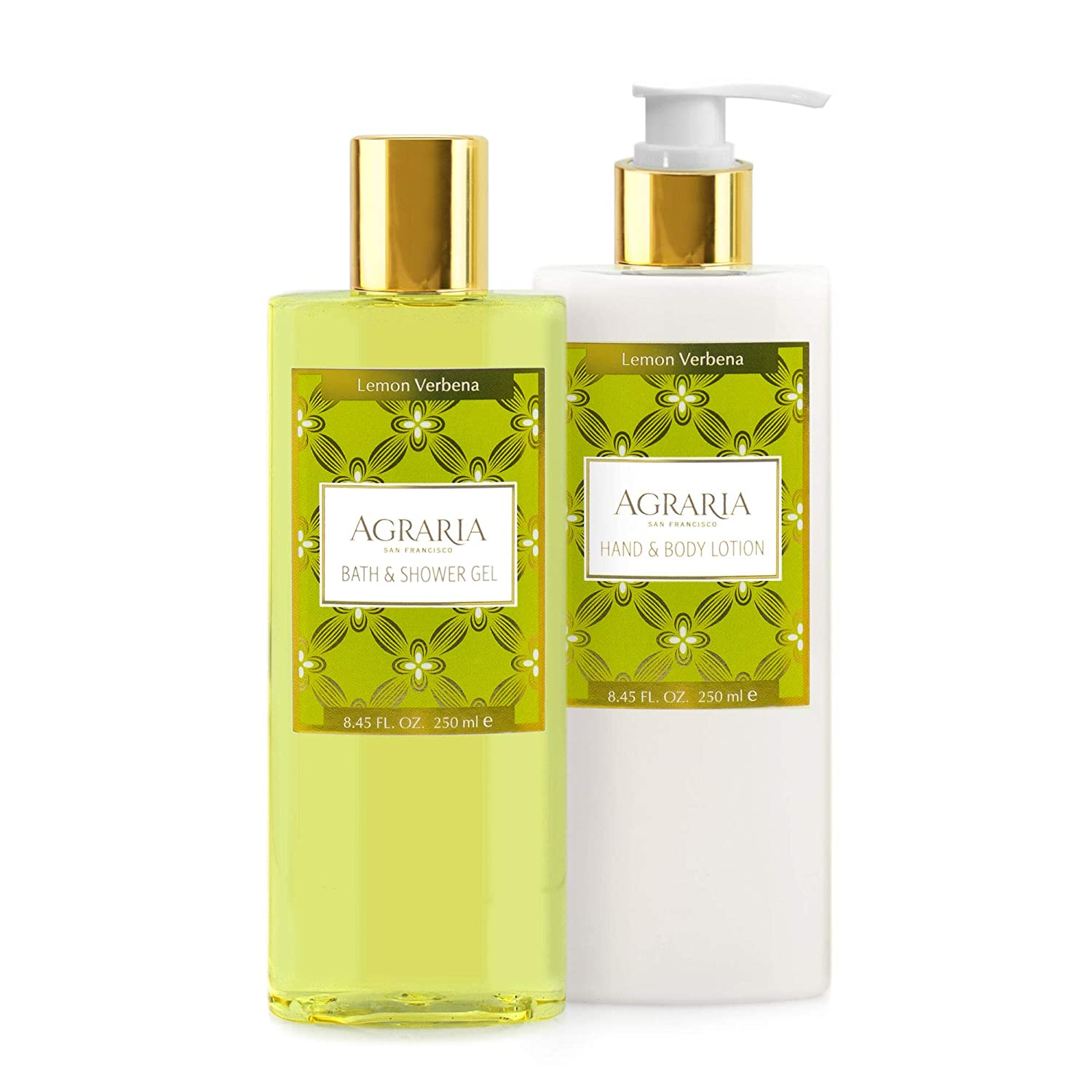 AGRARIA Lemon Verbena Luxury Body Lotion and Shower Gel Duo