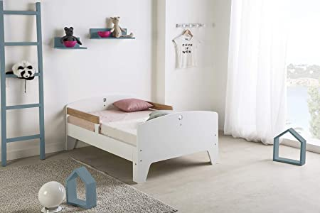 VS Venta-stock Lit Enfant /évolutif 90X140//170//200 CM Blanc