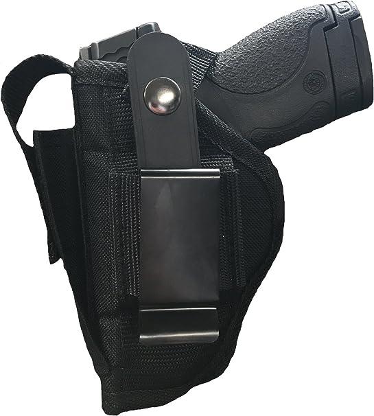 Nylon Belt or Clip on Gun Holster Fits SCCY 9mm, IND 380 with Laser