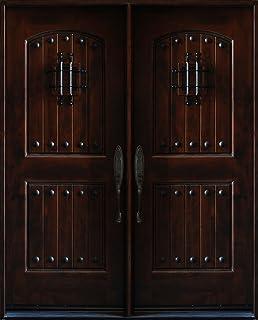 Knotty Alder Exterior Front Entry Double Door 30\