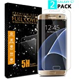 Galaxy S7 Screen Protector, 2 PACK Vinpie Not Glass / Full Coverage / Case Friendly / Bubble-Free / Anti-Scratch Wet Applied HD Clear Film Screen Protector for Samsung Galaxy S7