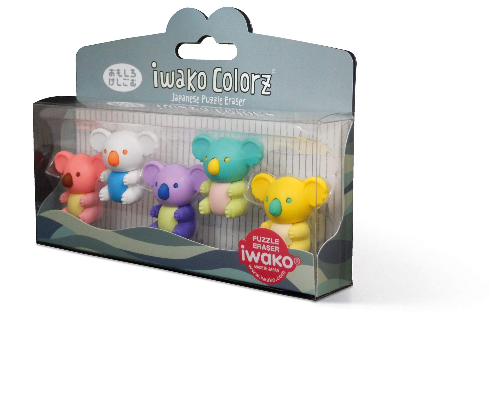 Miquelrius - Pack of 5 Removable Puzzle Erasers - Colourful Koala