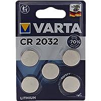 Varta 6032101401 batterijen Electronics CR2032 Lithium knoopcel 3V batterij in originele blisterverpakking met 5 stuks