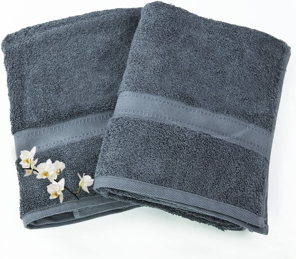 aztex TowelsRus Set of 2 100/% Super Soft Cotton 550gsm Hand Towels in Pink