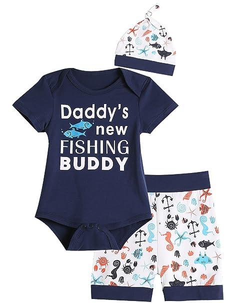 Amazon.com: Conjunto de 3 piezas de traje de bebé de manga ...
