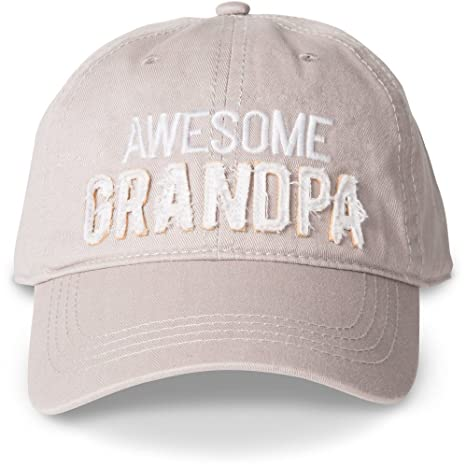 Amazon.com  Man Made Awesome Grandpa Adjustable Snap Back Baseball ... 4e9f54e87c68