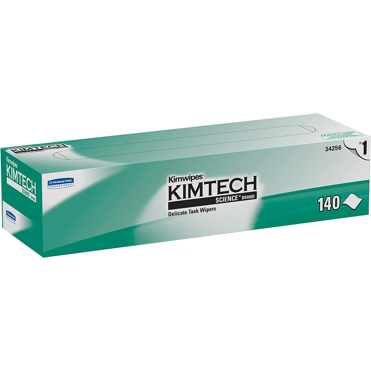 Kimtech 34256CT Kimwipes Delicate Task Wipers 1Ply 14 710 x 16 35 140 per Box Case of 15 Boxes