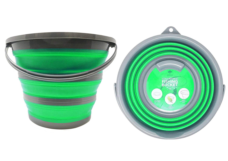 Bramble Seau portatif pliable pour usage domestique - capacité de stockage d'eau jusqu' à 10 litres - Idéal pour le nettoyage de la maison, les activités extérieures, la pêche et le camping.