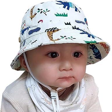 29df3337c41a Tyidalin Chapeau de Soleil Bebe Garcon Bonnet Bob de Plage Anti UV Pliable  ete en Coton