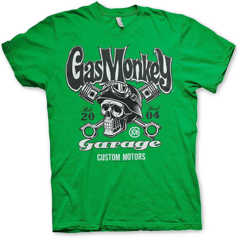 Officielle sous Licence Officielle Gas Monkey Garage Officially Licensed Custom Motors Skull T-Shirt Maille T Shirt GMG