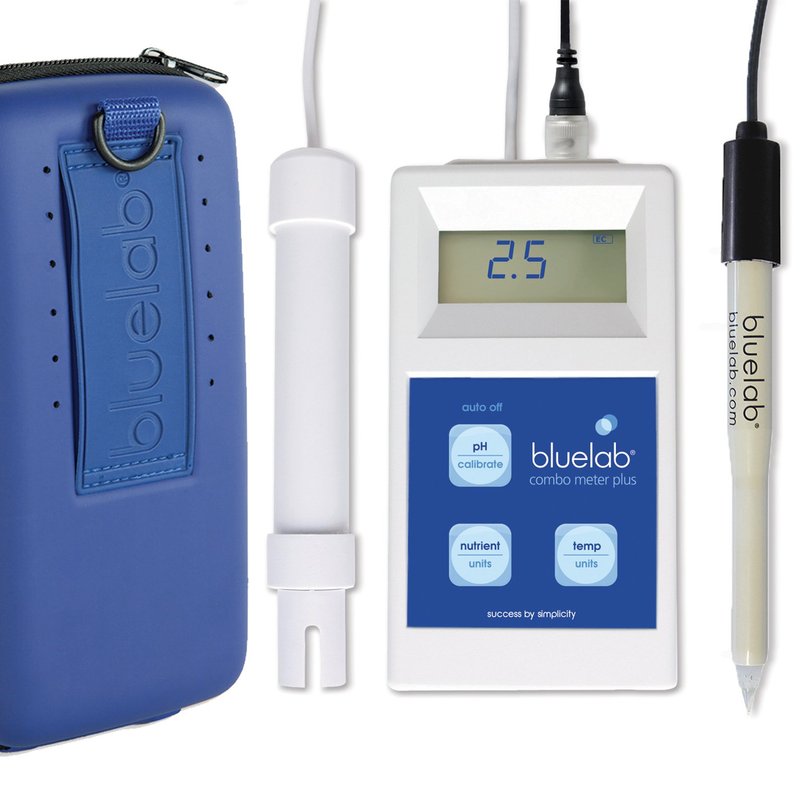 Bluelab Combo Meter Plus - Handheld Digital Hydroponic Nutrient and pH Meter for Measuring pH Levels, Conductivity & Temperature in Soil & Plants - Accurate pH Measurements - Bonus Carry Case Included by Bluelab (Image #1)