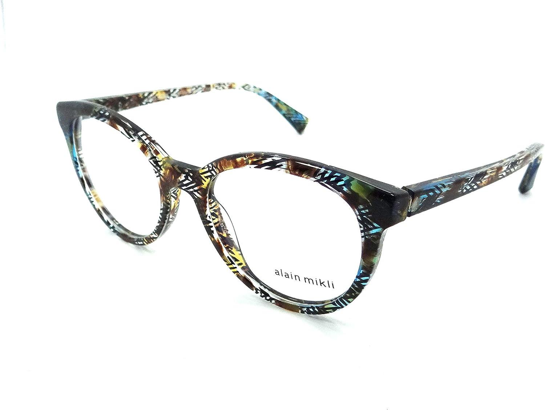 Alain Mikli Rx Eyeglasses Frames A03070 004 52-19-140 Havana Yellow Blue Italy