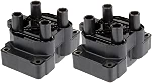 ROADFAR Pack of 2 Ignition Coils Fit for Land Rove-r Discovery Land Rove-r Range Rover 1995-2004 Equivalent with OE: UF306 C1147 5C1259