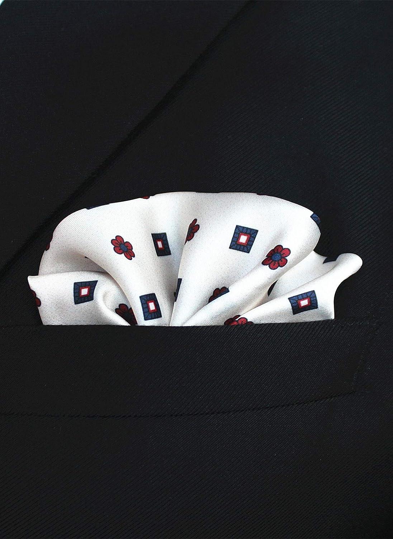 JEMYGINS Pack of 9 Solid Pocket Squares for Men Handkerchief Hanky Set