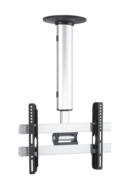 VCM cm 3 Mini Deckenhalterung, Neigbar, Schwenkbar, 26-40 Zoll, Silber, 50 x 42 x 42 cm