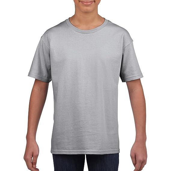 Gildan - Camiseta de Manga Corta - para niño: Amazon.es: Ropa y accesorios