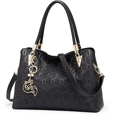 82840fcc3bb2 FOXER Women Leather Handbag Purse Top Handle Tote Shoulder Bag