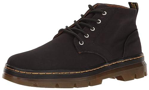Dr. Martens Unisex Adults Bonny Chukka Boots, Black (Black Canvas), 4