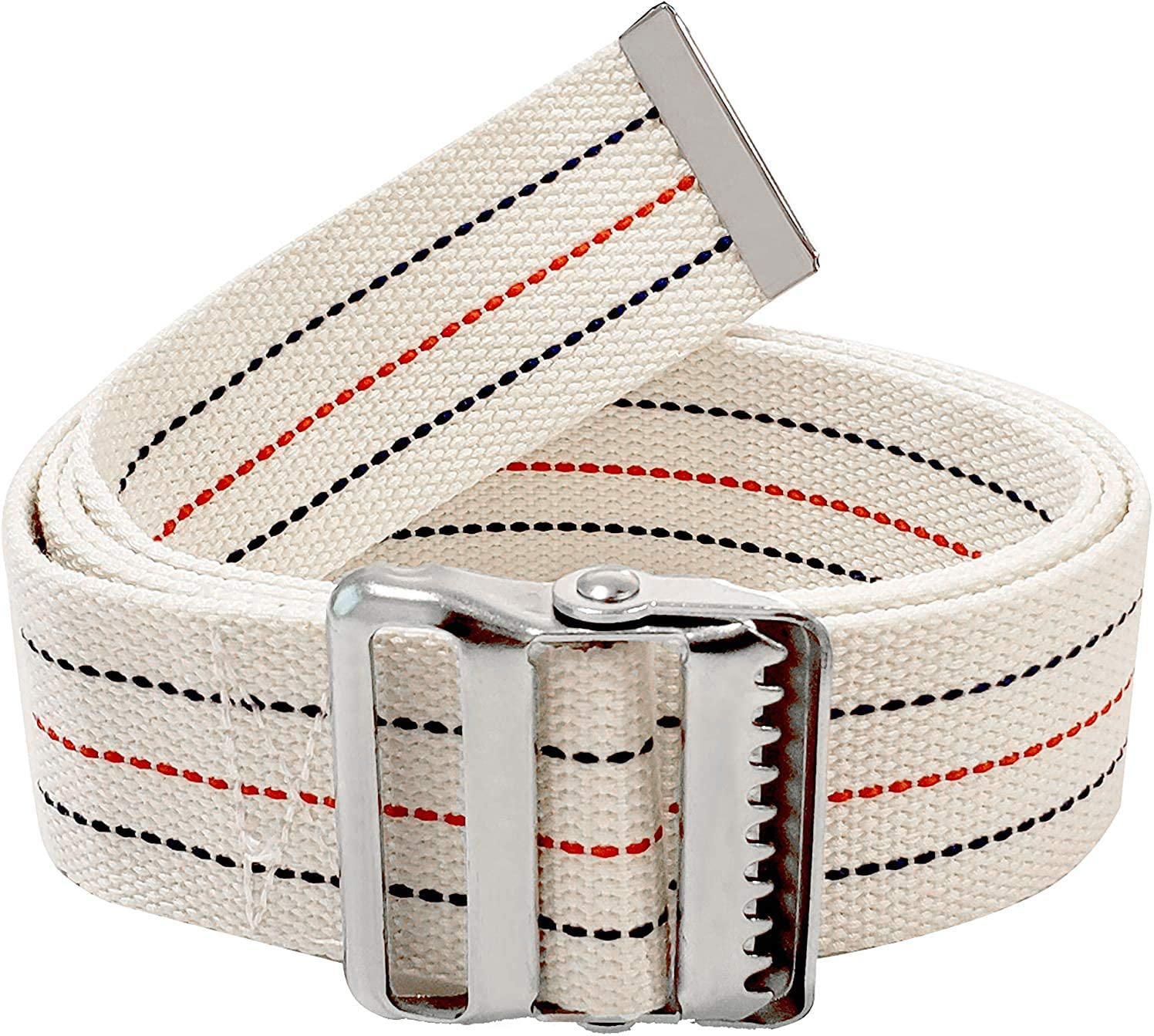 LiftAid Transfer and Walking Gait Belt with Metal Buckle and Belt Loop Holder for Therapist, Nurse, Home Care - 60