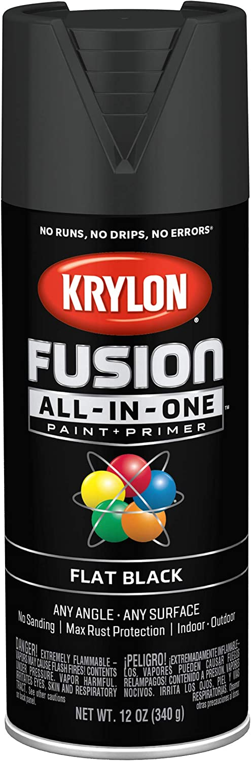 Krylon K02728007 Fusion All-In-One spray-paints, Black