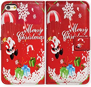 """2020 New 4.7-inch iPhone SE Case,Bcov Red Christmas Pattern Leather Flip Case Wallet Cover with Card Slot Holder Kickstand for New 4.7"""" iPhone SE/iPhone 8/iPhone 7"""