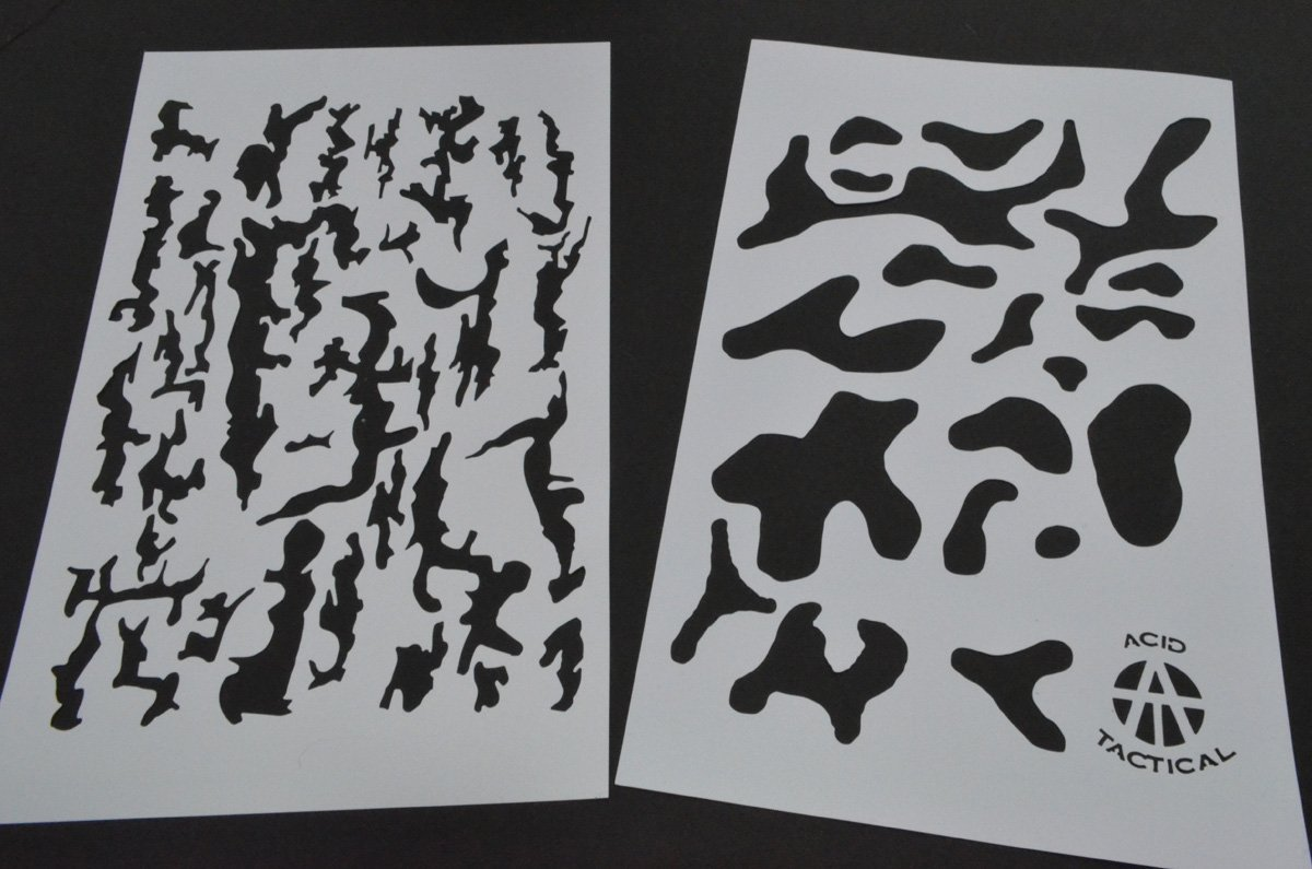photo about Free Printable Camo Stencils for Guns titled Acid Tactical 8 Strategies - 9x14\