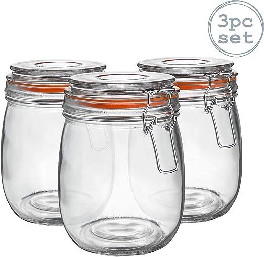 Botes de cocina para almacenar alimentos - Cristal - 750 ml - Pack ...