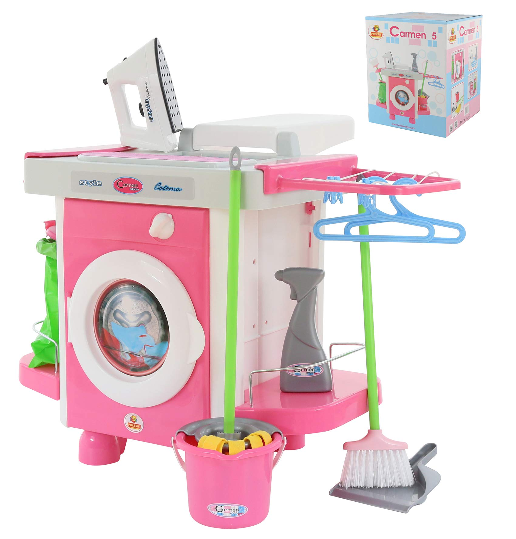 Polesie 58843 Laundry Playset (Box) -Cook & Play Toys, Multi Colour